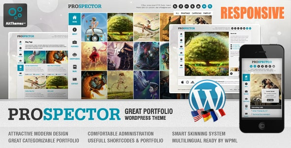 Tema Prospector - Template WordPress