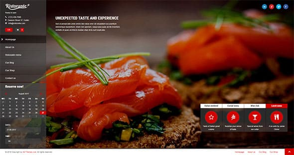 Tema Ristorante Plus - Template WordPress