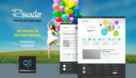 Tema Rounder - Template WordPress