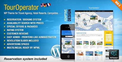 Tema Tour Operator - Template WordPress