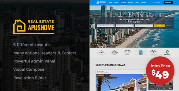 Tema ApusHome - TEmplate WordPress
