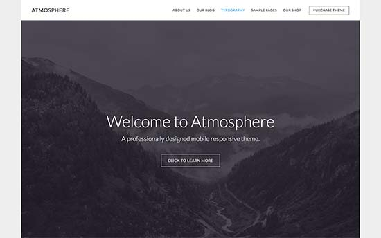 Tema Atmosphere Pro - Template WordPress