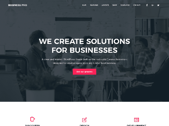 Tema Business Pro StudioPress - Template WordPress