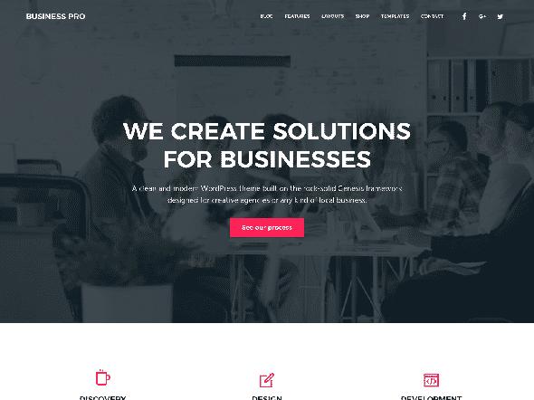 Tema Business Pro StudioPress - Template WordPress