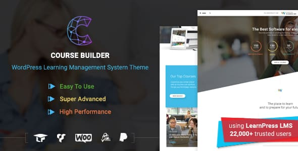 Tema Course Builder - Template WordPress