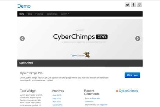 Tema Cyberchimps Pro - Template WordPRess