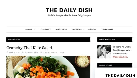 Tema Daily Dish Pro - Template WordPress