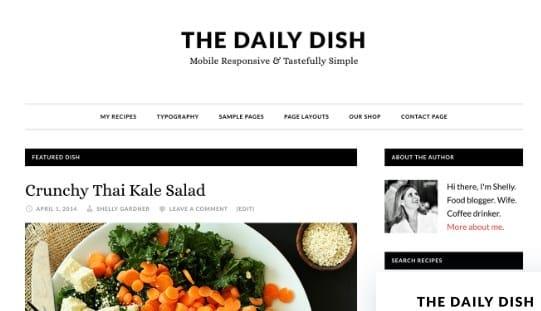 Tema Daily Dish Pro - Template WordPress