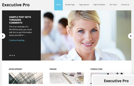 Tema Executive Pro - Template WordPress