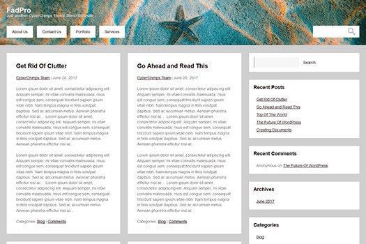 Tema Fad Pro Cyberchimps - Template WordPress
