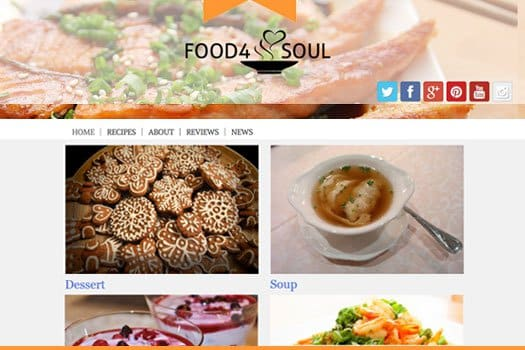 Tema Food 4 Soul - Template WordPress