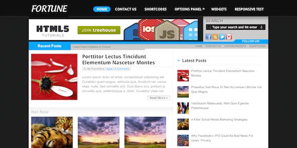 Tema Fortune MyThemeShop - Template WordPress