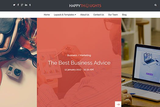 Tema Happy Thoughts - Template WordPRess