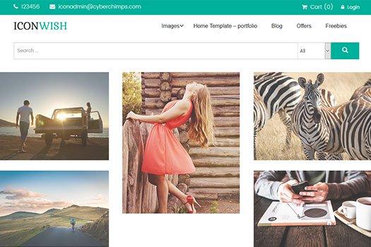 Tema IconWish - Template WordPress