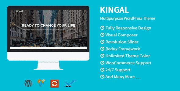 Tema Kingal - Template WordPress