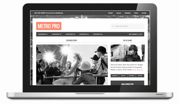 Tema Metro Pro StudioPress - Template WordPress