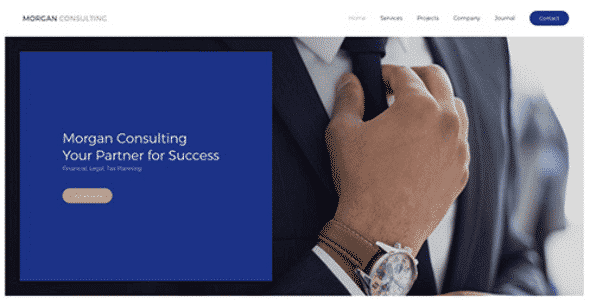 Tema Morgan Consulting - Template WordPress