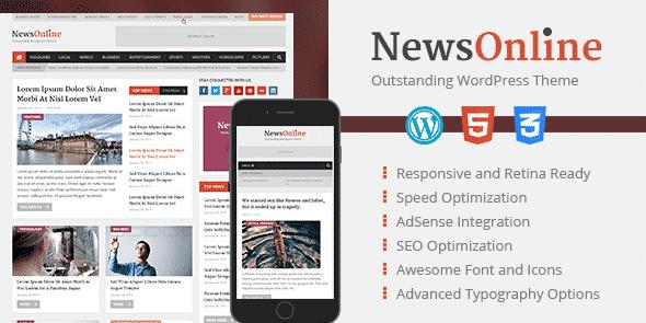 Tema NewsOnline - Template WordPress