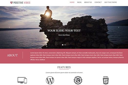 Tema Positive Vibes - Template WordPress