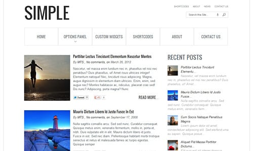 Tema Simple MyThemeShop - Template WordPress
