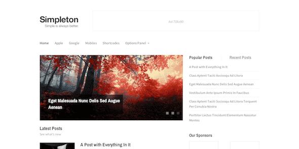 Tema Simpleton - Template WordPress