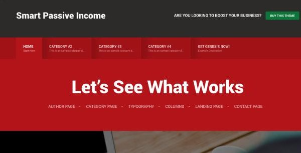 Tema Smart Passive Income Pro - Template WordPress