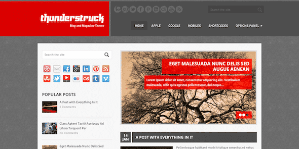 Tema ThunderStruck - Template WordPress