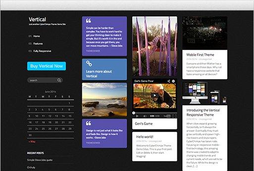 Tema Vertical Cyberchimps - Template WordPress