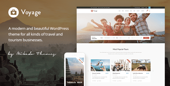 Tema Voyage - Template WordPress