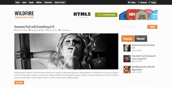 Tema Wildfire MyThemeShop - Template WordPress
