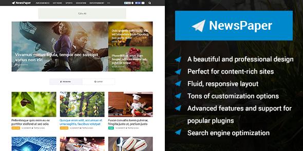 Tema NewsPaper MyThemeShop - TEmplate WordPress