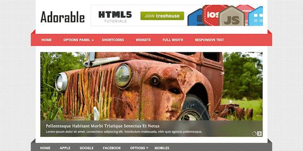Tema Adorable - Template WordPress