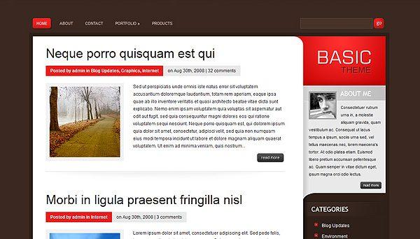 Tema Basic ElegantThemes - Template WordPress
