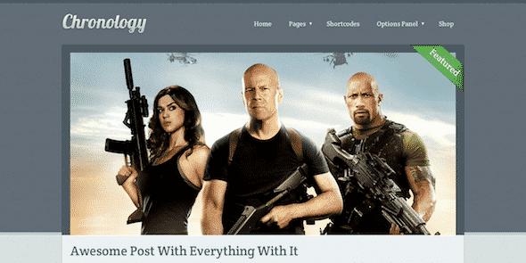 Tema Chronology - Template WordPress
