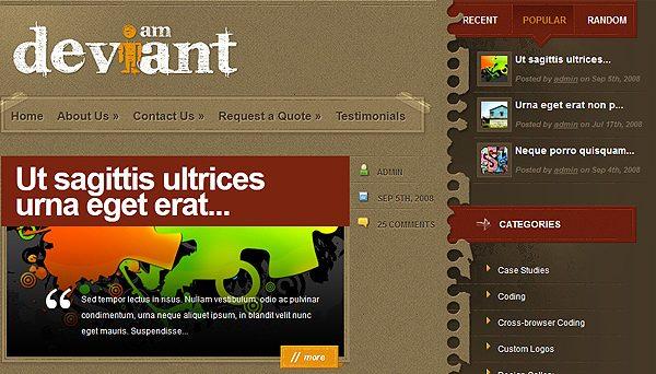 Tema Deviant - Template WordPress