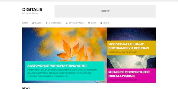 Tema Digitalis - TEmplate WordPress
