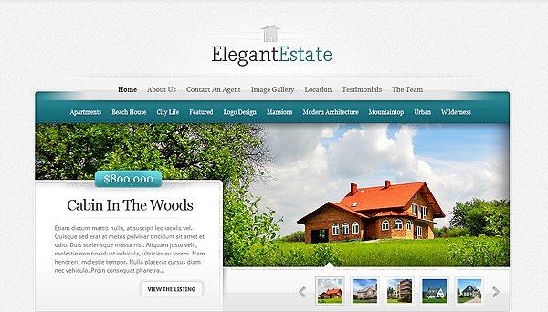 Tema ElegantEstate - Template WordPress