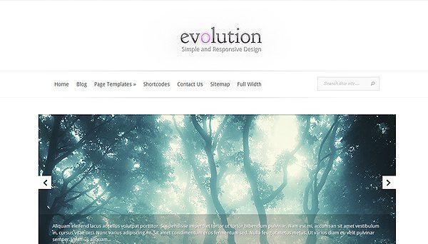 Tema Evolution ElegantThemes - Template WordPress