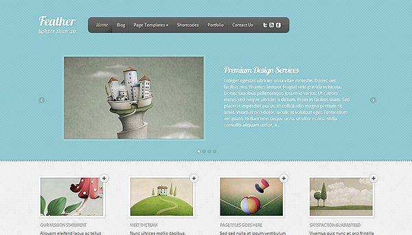 Tema Feather ElegantThemes - TEmplate WordPress