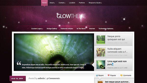 Tema Glow ElegantThemes - Template WordPress