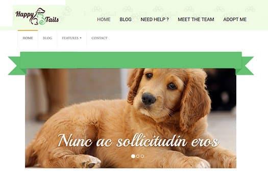 Tema Happy Tails - Template WordPress
