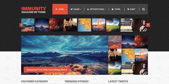 Tema Immunity MyThemeShop - Template WordPress