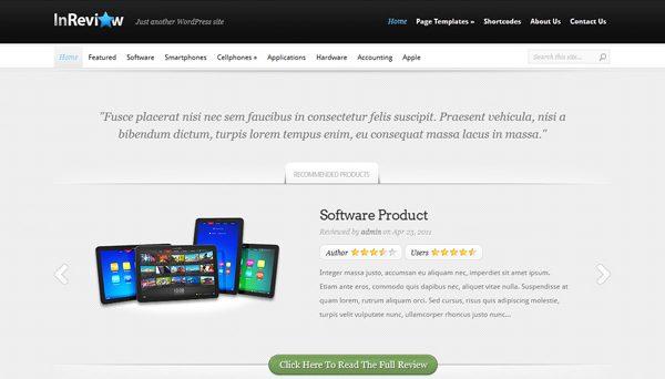 Tema InReview - Template WordPress