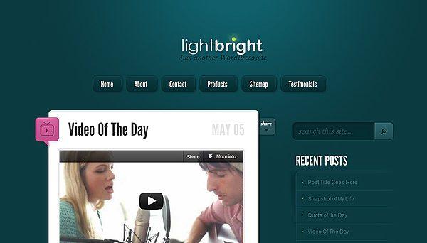 Tema LightBright - Template WordPress