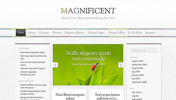 Tema Magnificent - Template WordPress