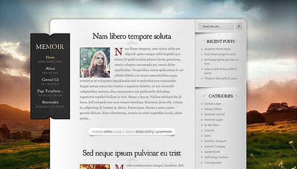 Tema Memoir - Template WordPress