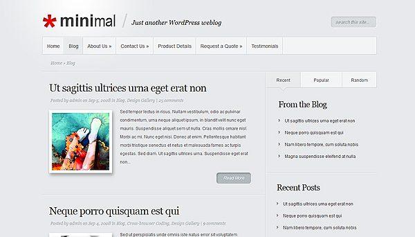 Tema Minimal ElegantThemes - Template WordPress