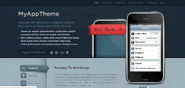 Tema MyApp ElegantThemes - Template WordPress