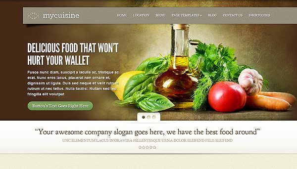 Tema MyCuisine - Template WordPress