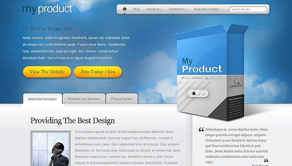 Tema MyPRoduct ElegantThemes - Template WordPress